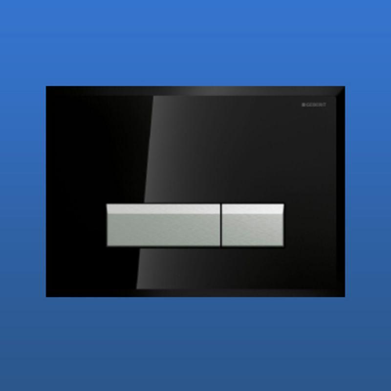 bet tigungsplatte geberit sigma 40 schwarz aluminium 115. Black Bedroom Furniture Sets. Home Design Ideas